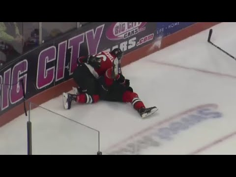 Komets beat Toledo 3-2 in overtime on Chase Stewart goal - video courtesy: ECHL-TV