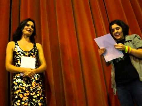 Brazilian fans read letter to Sharon Corr after her concert in HSBC Brasil Sao Paulo