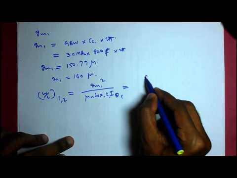 Design of two stage operational amplifier (opamp) part 6 (design procedure)