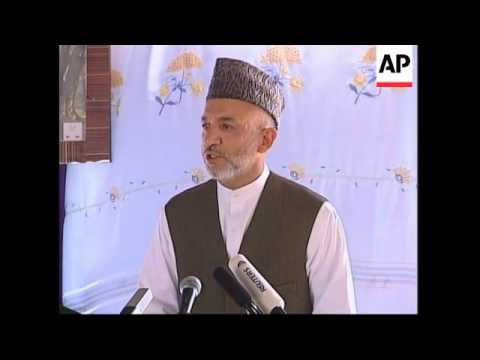 Karzai opens bridge linking Afghanistan and Tajikistan