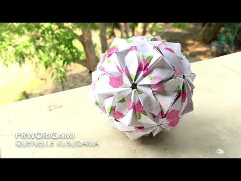 Quenelle Kusudama - PrwOrigami Folding Tutorial 【くす玉・折り紙】 thumbnail