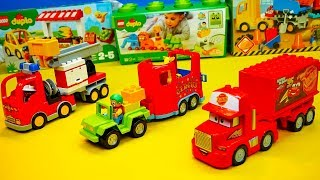 Unboxing, Lego Duplo Fire Department, Truck, Lego Junior, Police, Movie for Kids