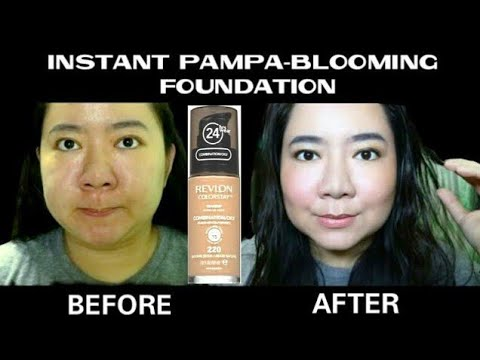 BEFORE & AFTER Using Revlon Colorstay (24hrs wear) Makeup Foundation Best  for Oily Skin | Review