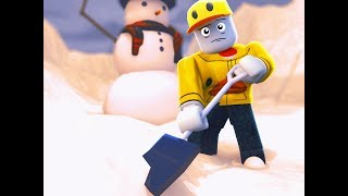 DUCKS DON'T BELONG IN THE SNOW (Roblox Snow Shoveling Simulator)