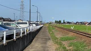 JR城端線8373D観光列車べるもんた53号キハ40-2027