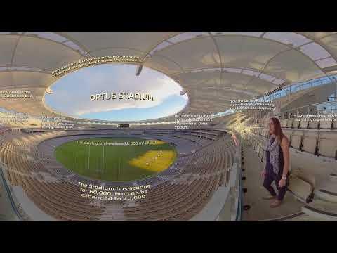 3D VR | CBS Alumna Lexie at Perth's Optus Stadium