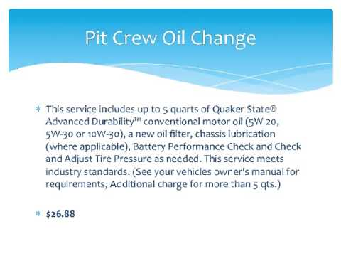 Walmart Oil Change Price >> Walmart Oil Change Prices And Services