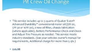 Walmart Oil Change Prices and Services