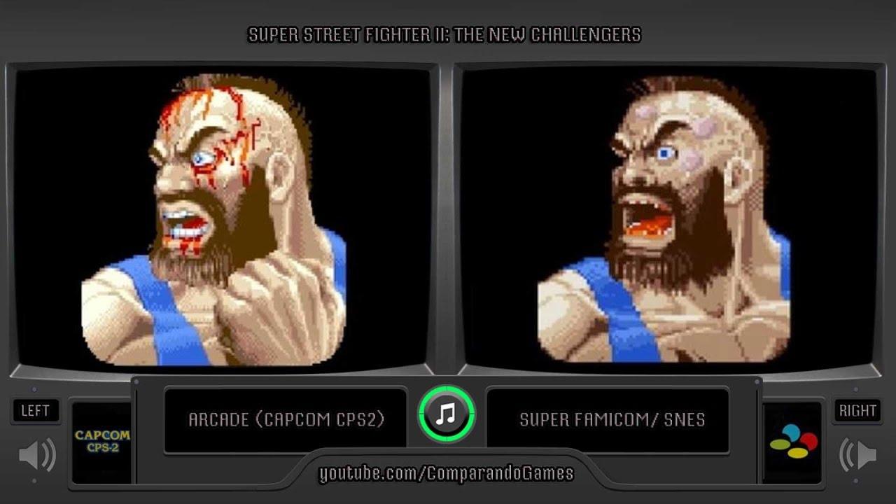 Super Street Fighter Ii Arcade Vs Snes Continue Screens