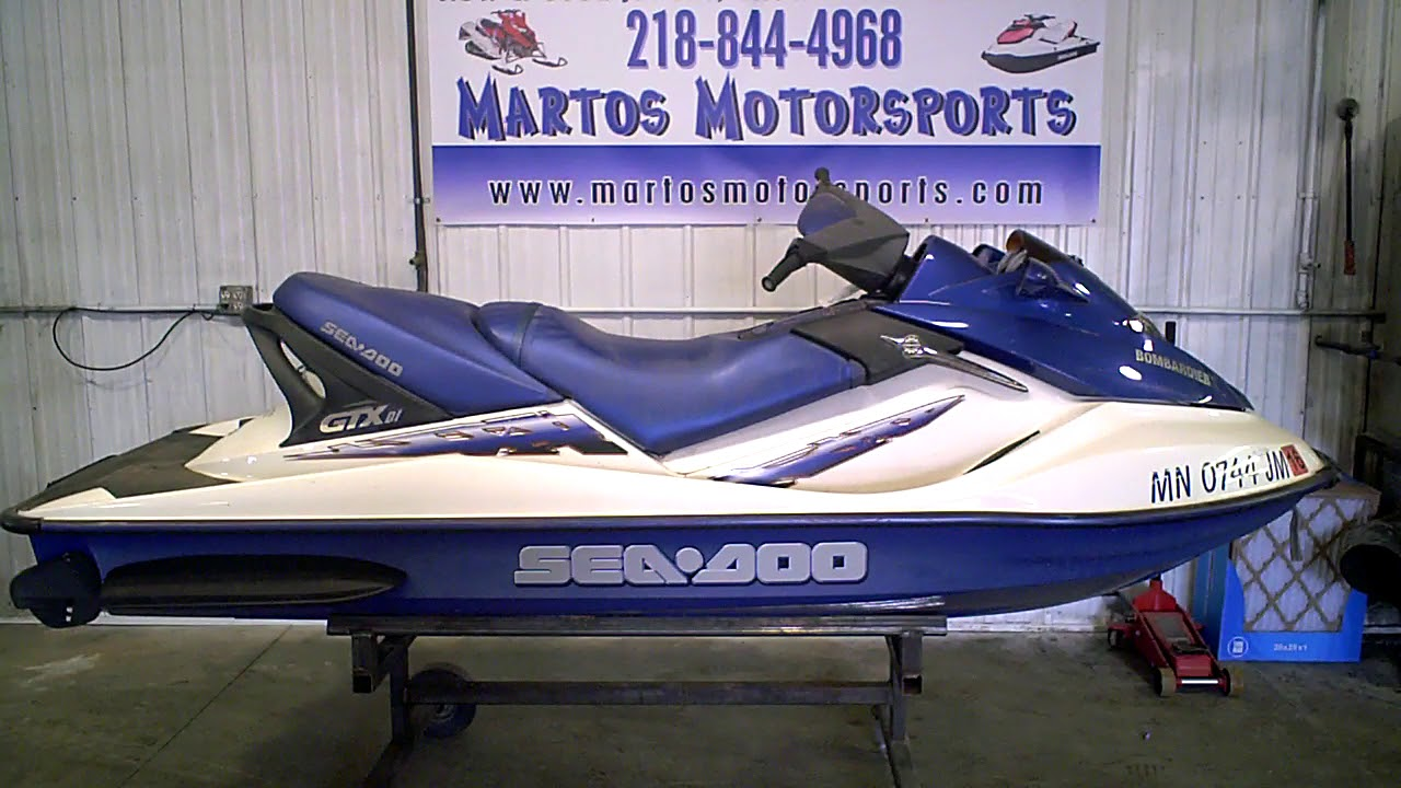 2002 SEA DOO GTX DI Blue Tear Down Into Parts LOT 3085A Martos Motorsports