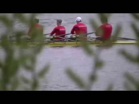 Regatta Regensburg 2013 Masters Männer Doppelvierer Zieleinlauf