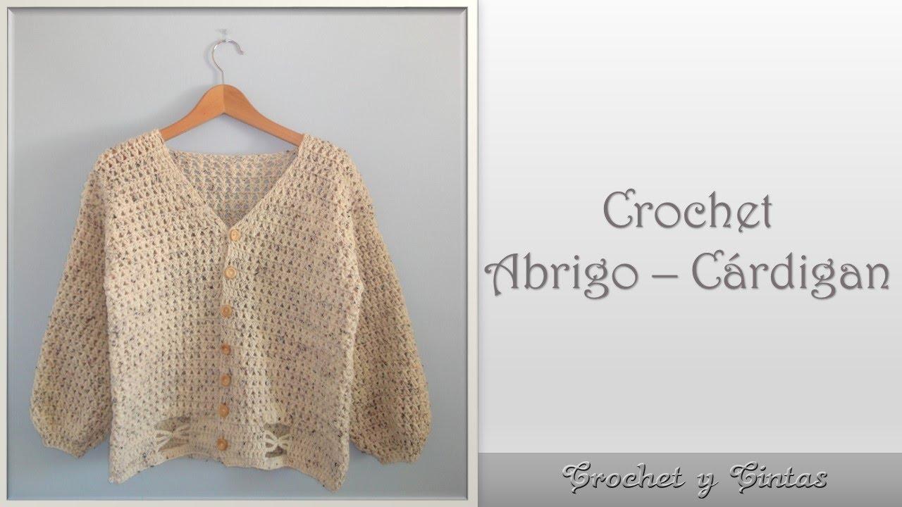 Abrigo – Cárdigan en punto cruzado para mujer tejido a crochet ...