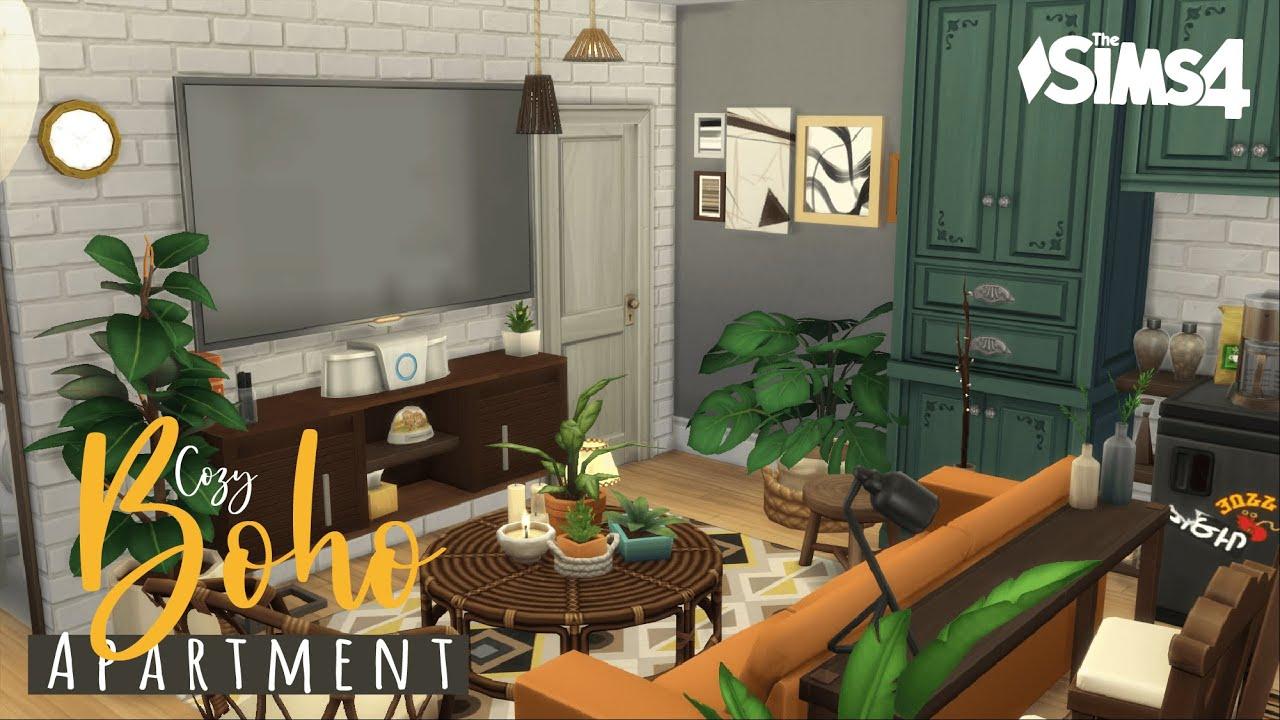 Cozy Boho Apartment   No CC   The Sims 4 Stop Motion Build ...