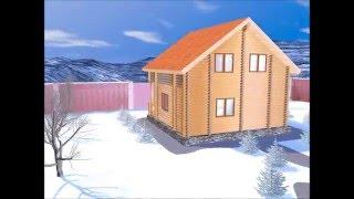 Проект дома из оцилиндрованного бревна