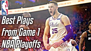 BEST Plays From Game 1 Of The NBA Playoffs | 2018
