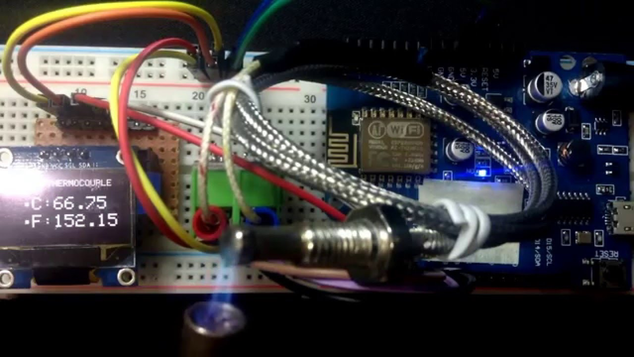 Wiring Thermocouple MAX6675 on ESP8266 12E NodeMCU   14core com