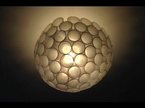 DIY: lampadario con 80cent - YouTube