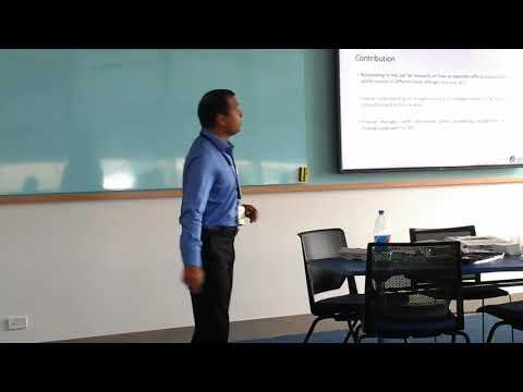 My First Presentation at University of Newcastle Australia