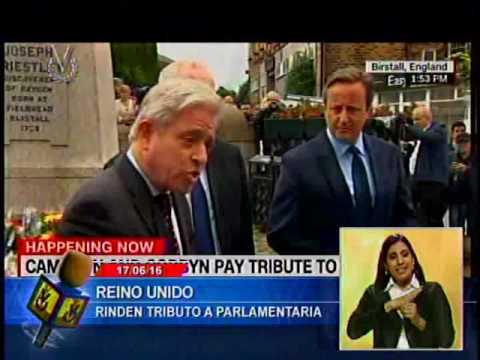 David Cameron asistió a homenaje en Inglaterra de la diputada asesinada Jo Cox