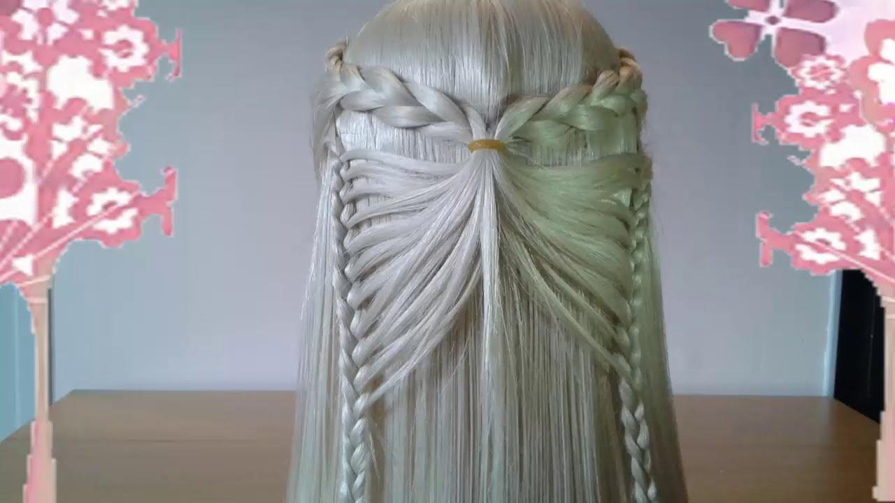 peinados de mariposa y corazon faciles para cabello largo bonitos y rapidos para nia youtube