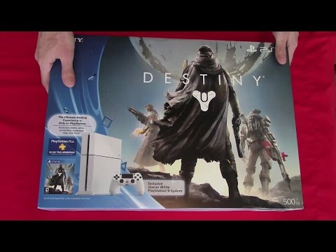 Sony PlayStation 4 (PS4) Destiny bundle unboxing video