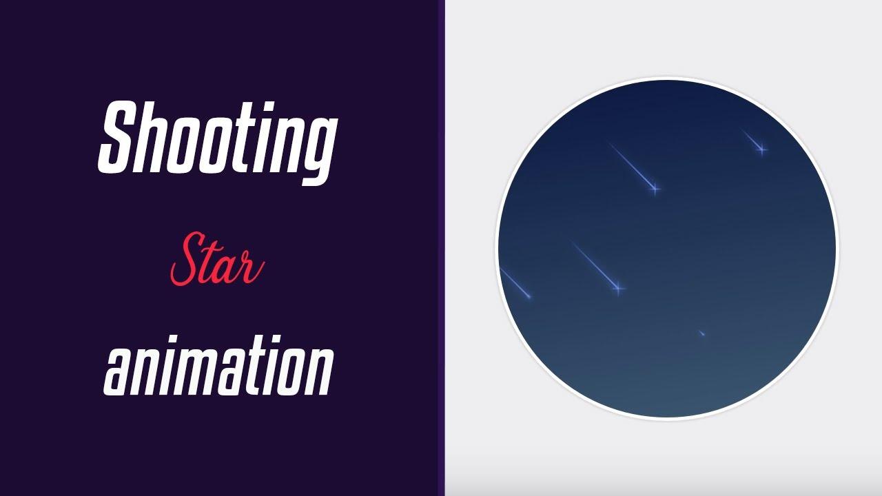 Shooting Stars Animation | HTML & CSS | Winter Series