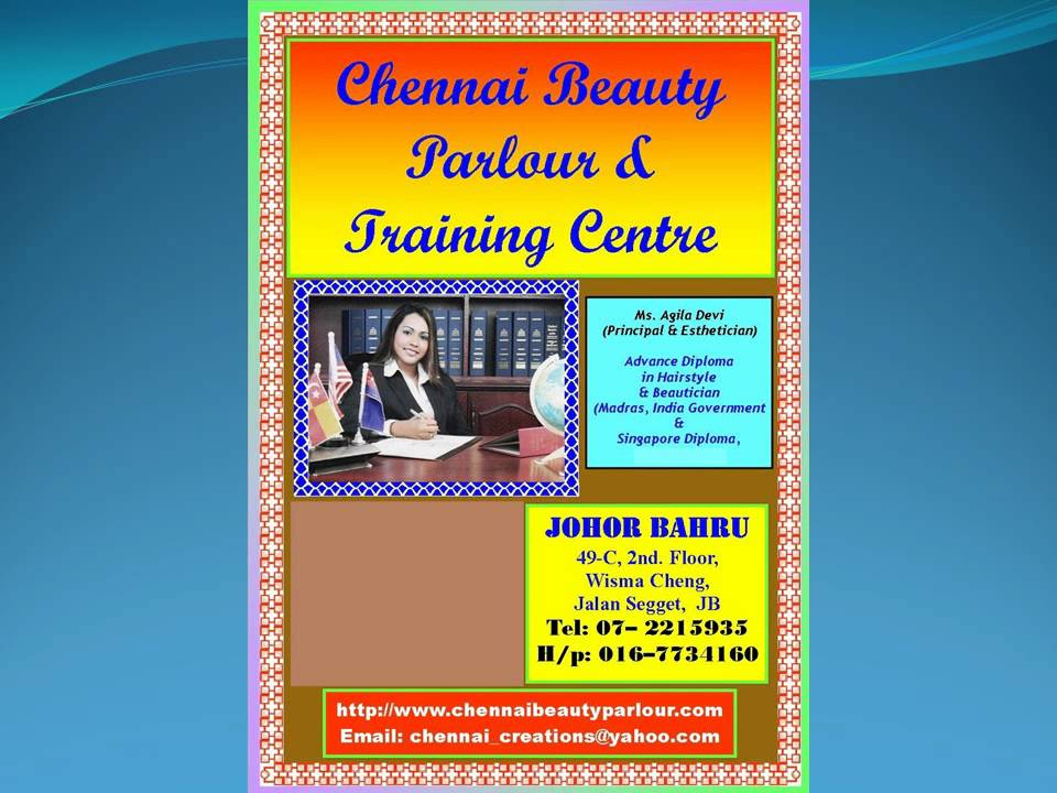 Indian Bridal and Beauty Courses in Johor Bahru, Malaysia - Chennai Beauty Parlour - YouTube
