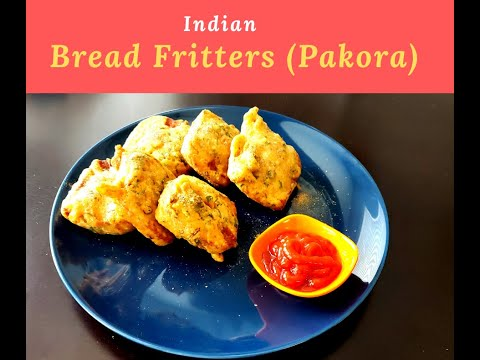 Bread Fritters (Pakora) Recipe- Perfect snack, quick and easy can be made any time.