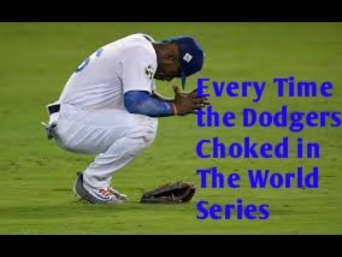 Every Time The Dodgers Choked In The World Series Youtube