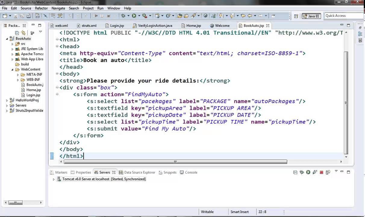 How to write custom tags in struts2