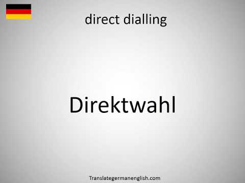 How to say direct dialling in German? (Direktwahl)
