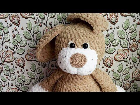 зефирная собачка крючком часть 3 собачка крючком амигуруми Youtube