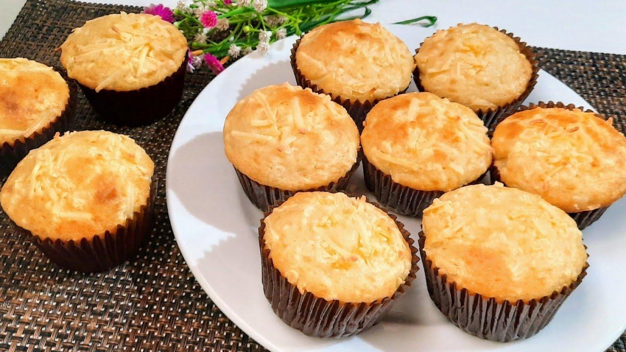 Muffin Keju Simpel Cuma 1 Telur Bolu Keju Tanpa Mixer Youtube