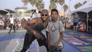 Brandon Armstrong and Miles Brown at Dew NBA 3X in Los Angeles