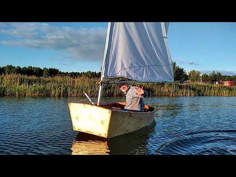 Первый выход на озеро💪 ⛵ Яхта Оптимист швертбот 16
