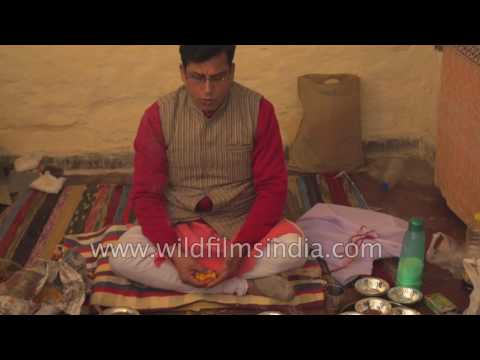 After death rituals: A Hindu family performs 'Prithvi Puja'
