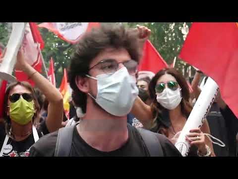 Protesta per vaksinat ne Rome - News, Lajme - Vizion Plus