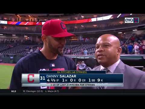 Danny Salazar in a good place mentally following 9 K performance