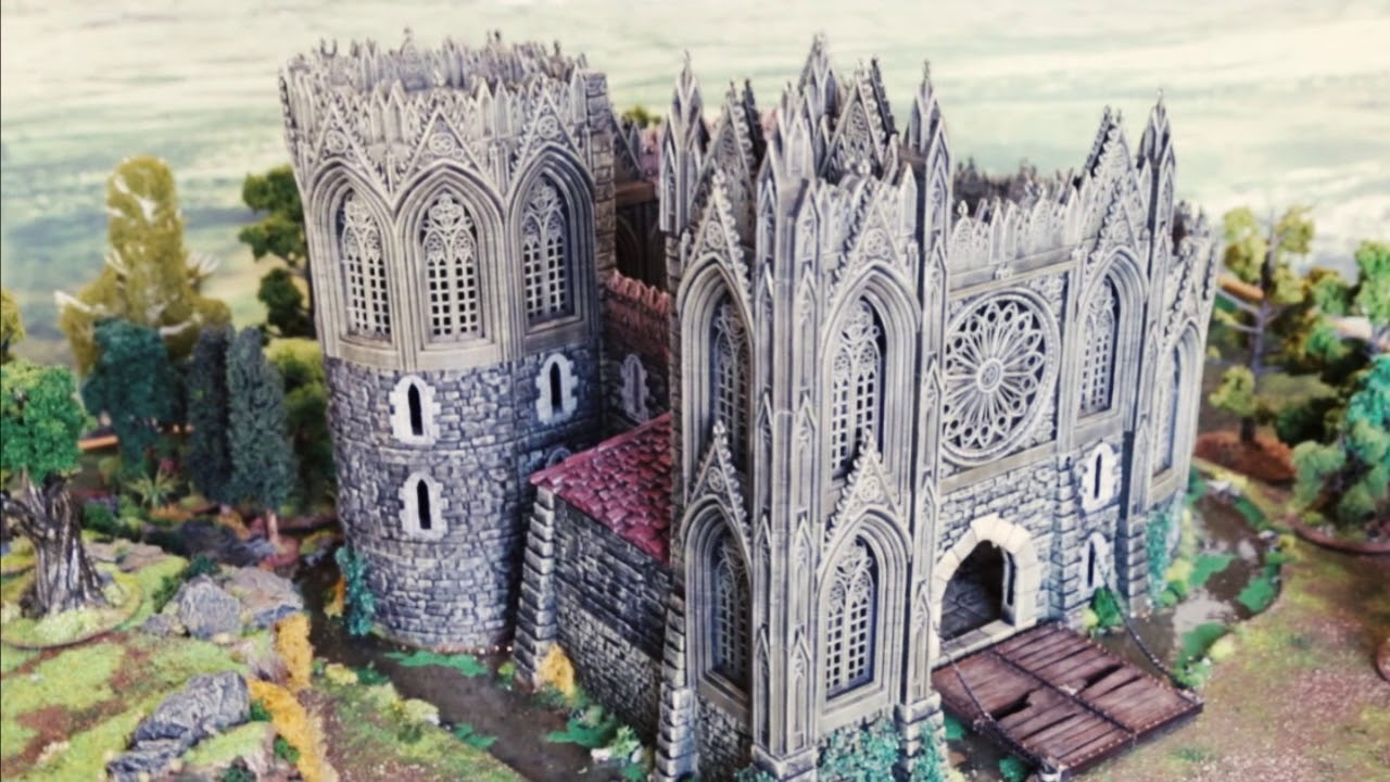 3D Printable Gothic Wargame Scenery - Now Funding