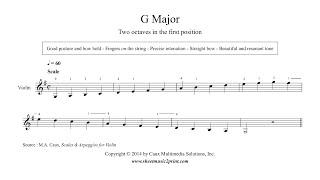 Violin : G Major Scale & Arpeggio - Grade 1