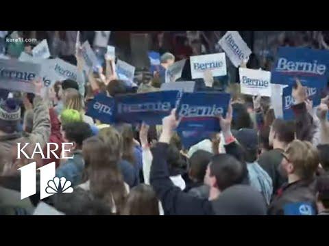 Sen. Bernie Sanders holds rally in Minneapolis with Rep. Ilhan Omar