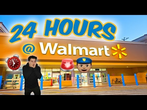 👮🏼🚨COPS 24 HOUR OVERNIGHT WALMART TOY FORT GONE WRONG ⏰ CAUGHT  OVERNIGHT SECURITY KICKED OUT