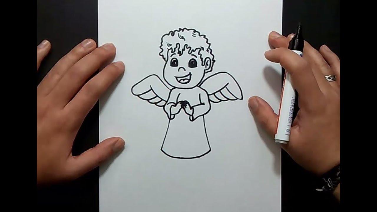 Como dibujar un angel paso a paso 4 | How to draw an angel 4 - YouTube