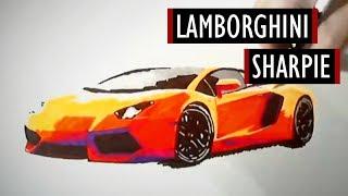 Super Car Speed Painting - Sharpie #1 [Kocham Rysować]