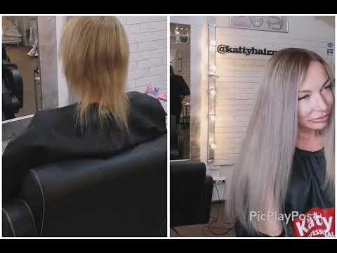Наращивание с коротких волос Kattyhair
