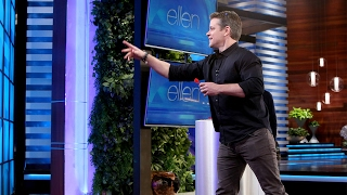 Matt Damon Shows Off His Sharp Dart Skills