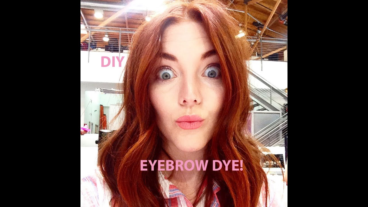 DIY How to Dye Your Eyebrows at Home - YouTube