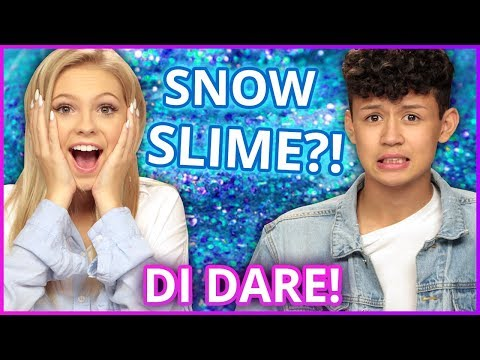 DIY SNOW SLIME?! Di Dare w/ Jordyn Jones & Brandon Westenberg