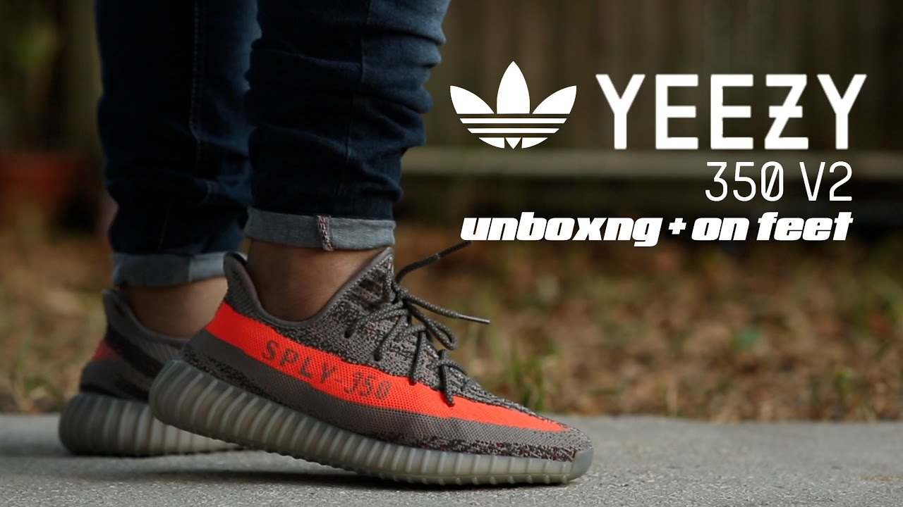 653dc09bfbd97 ... top quality adidas yeezy boost 350 v2 unboxing on feet youtube d91a2  70a6b