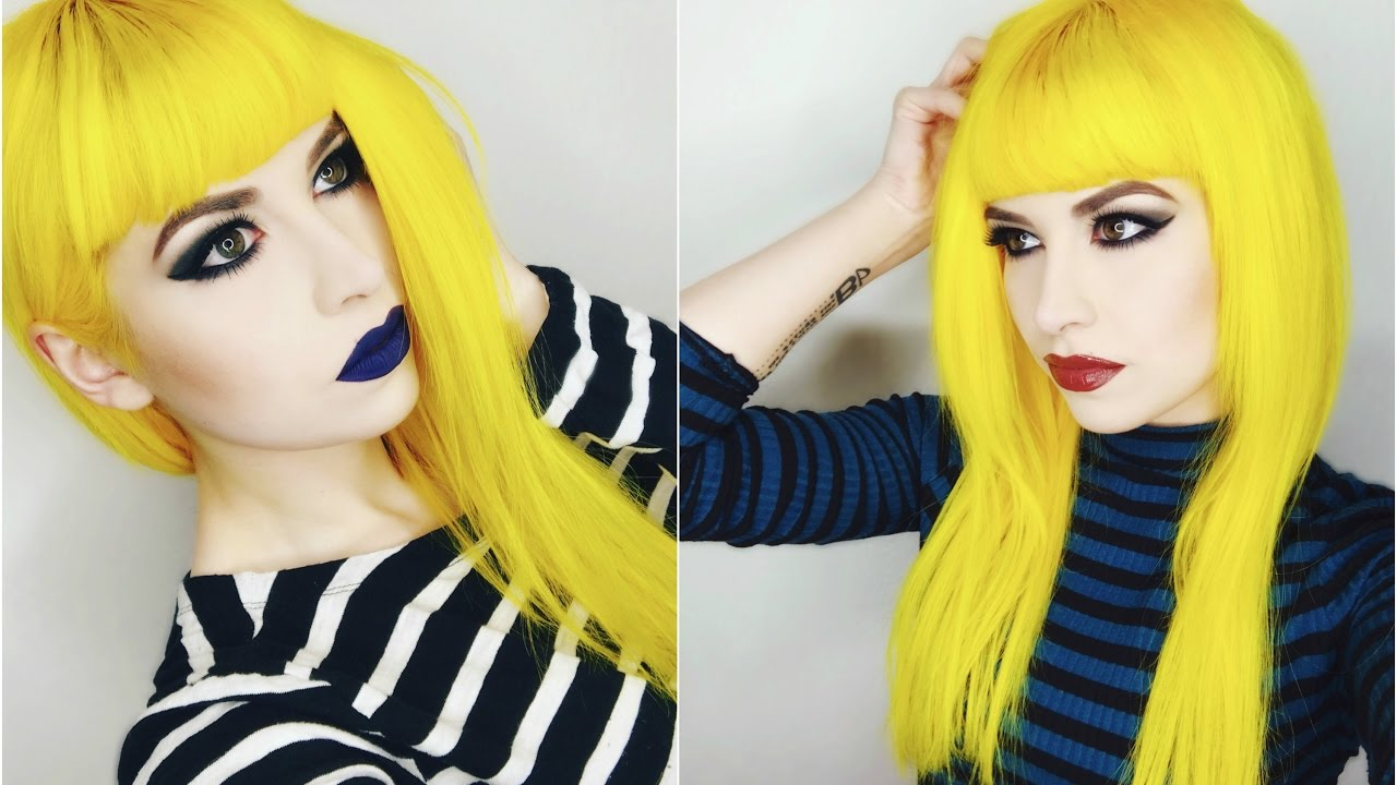 dying hair yellow arctic